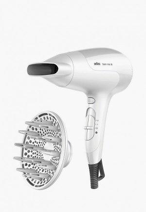 Фен Braun Satin Hair 3 PowerPerfection HD385. Цвет: белый