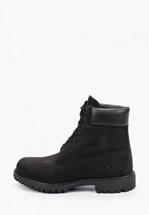 Тимберленды Timberland 6 Inch Premium Boot BLACK. Цвет: черный