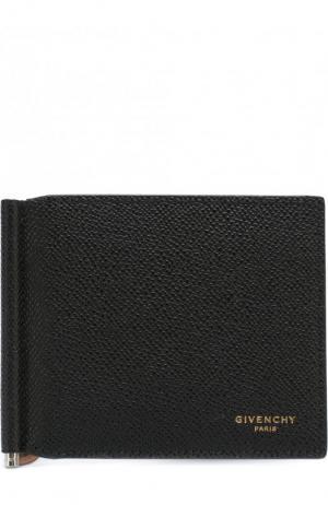 Кожаный зажим для денег с отделениями кредитных карт Givenchy. Цвет: черный