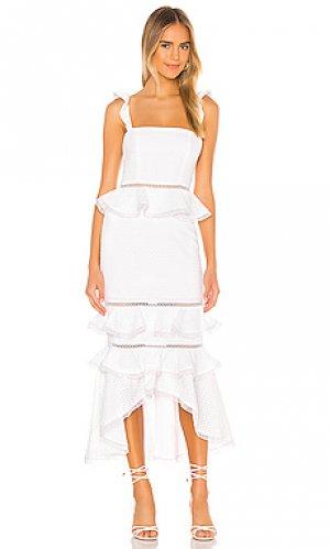 Платье миди haze NBD. Цвет: белый