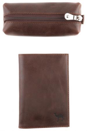 Набор кожгалантереи Dimanche. Цвет: коричневый