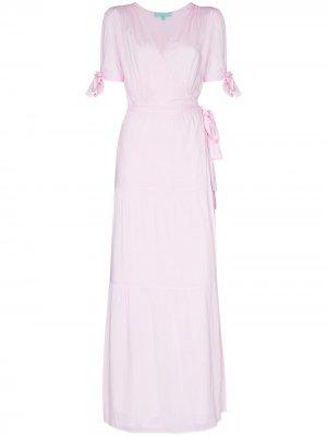 Платье макси Emily с запахом Melissa Odabash. Цвет: розовый
