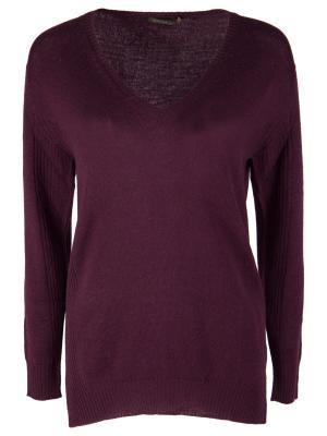 Шерстяной пуловер AGNONA. Цвет: бордовый