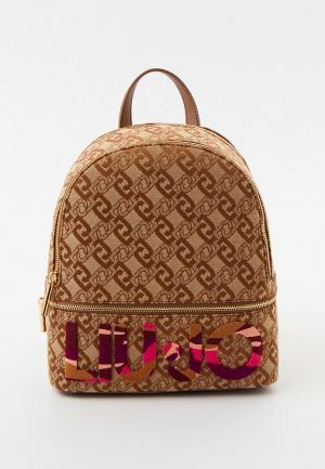 Рюкзак и брелок Liu Jo. Цвет: коричневый