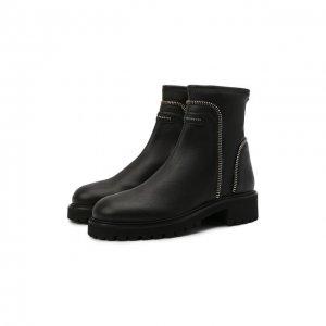 Комбинированные ботинки Giuseppe Zanotti Design. Цвет: чёрный