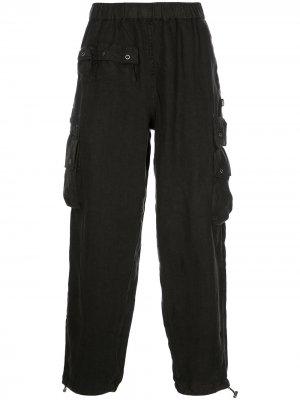 Прямые брюки Utility с карманами Stussy. Цвет: черный