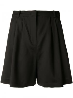 Короткая юбка с атласными вставками сбоку Pinko. Цвет: черный