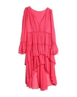Короткое платье ATOS LOMBARDINI. Цвет: коралловый