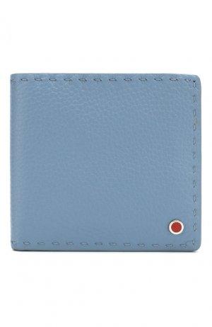 Кожаное портмоне Kiton. Цвет: синий