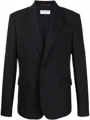 Строгий пиджак Saint Laurent. Цвет: черный