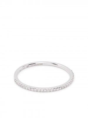 Кольцо 1g из белого золота с бриллиантами Le Gramme. Цвет: серебристый