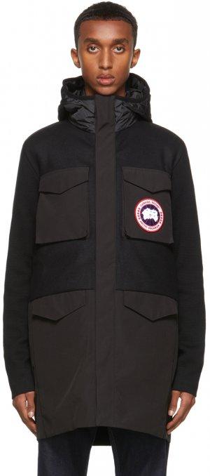 Black Knit Dunfield Jacket Canada Goose. Цвет: black