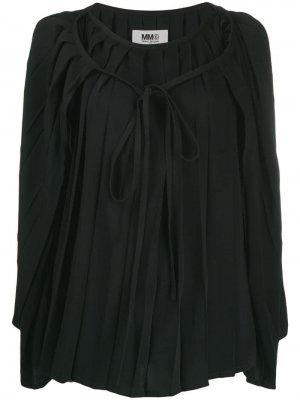Плиссированная блузка-кейп Mm6 Maison Margiela