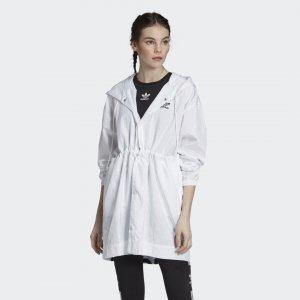 Ветровка Originals adidas. Цвет: белый