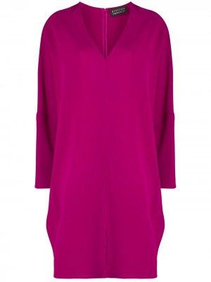Платье-кокон с приспущенными плечами Gianluca Capannolo. Цвет: розовый