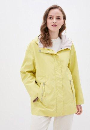 Куртка Снежная Королева. Цвет: желтый