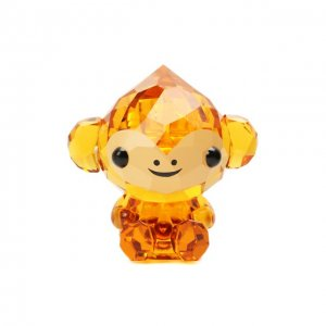 Скульптура Cheerful monkey Swarovski. Цвет: оранжевый