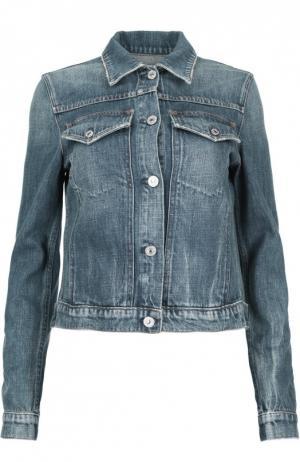 Приталенная джинсовая куртка с накладными карманами Citizens Of Humanity. Цвет: синий