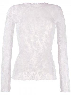 Пуловер Katharina с кружевом Wolford. Цвет: белый