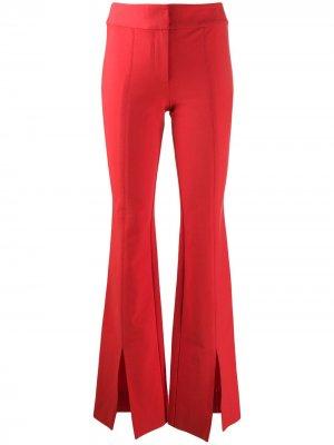 Саржевые брюки клеш Maeve с разрезами Derek Lam 10 Crosby. Цвет: красный