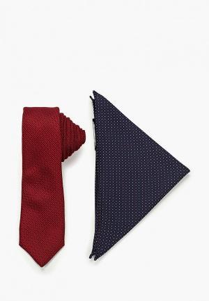 Комплект Burton Menswear London - галстук и нагрудный платок-паше. Цвет: разноцветный