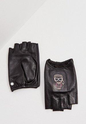 Митенки Karl Lagerfeld IKONIK. Цвет: черный