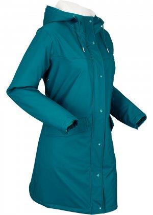 Функциональная куртка-дождевик bonprix. Цвет: сине-зеленый