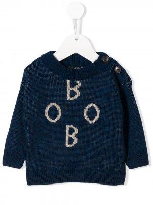 Джемпер фактурной вязки Bobo Choses. Цвет: синий