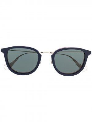 Солнцезащитные очки с затемненными линзами Moncler Eyewear. Цвет: синий