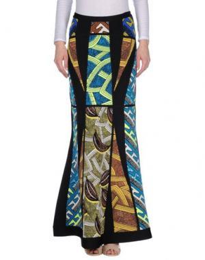 Длинная юбка HERVÉ LÉGER. Цвет: лазурный