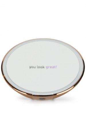 Компактное зеркало с сенсорной подсветкой Simplehuman. Цвет: золотистый