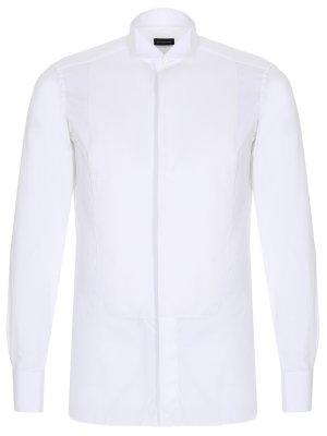 Рубашка Slim Fit под смокинг ERMENEGILDO ZEGNA