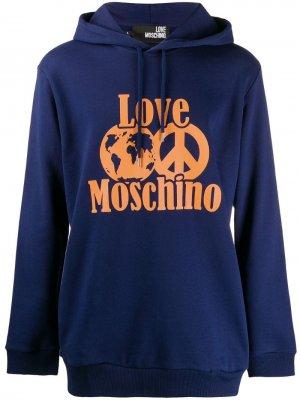Худи с логотипом Love Moschino