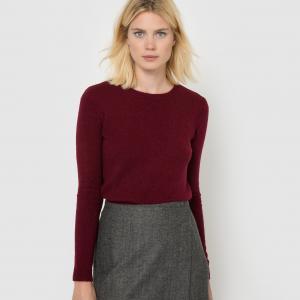 Пуловер из трикотажа в крапинку, 52% шерсти La Redoute Collections. Цвет: светло-серый