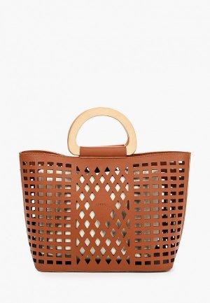 Комплект Labbra сумка и вкладыш. Цвет: коричневый
