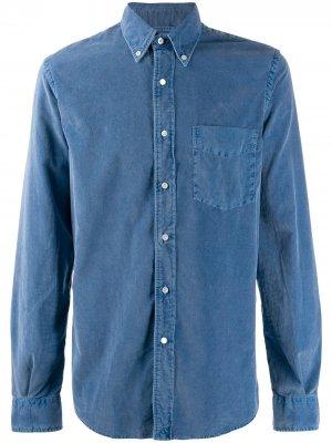 Вельветовая рубашка Aspesi. Цвет: синий