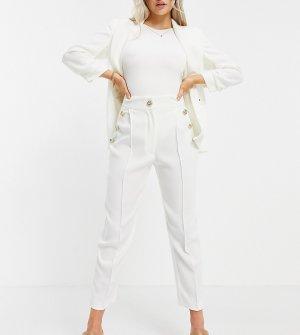 Белые брюки-галифе с пуговицами спереди от комплекта -Белый River Island Petite