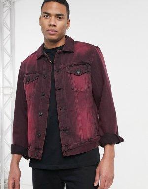 Черно-красная джинсовая куртка Iskar-Черный цвет AllSaints