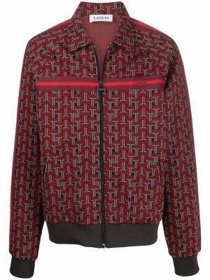 Куртка JL с узором LANVIN. Цвет: красный