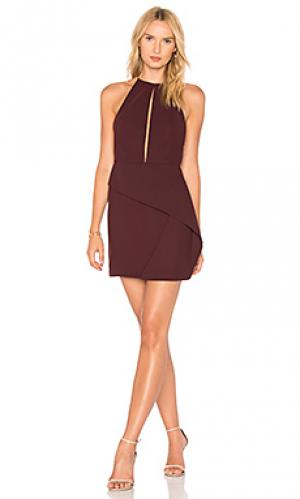 Мини платье andie AQ/AQ. Цвет: красное вино