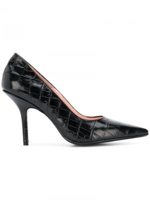 Croco-embossed pumps Anna F.. Цвет: черный