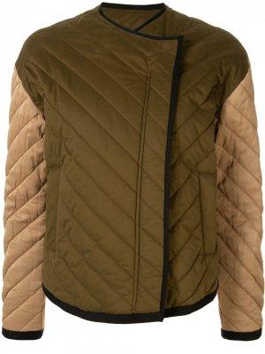 Стеганая куртка FRAME. Цвет: зеленый