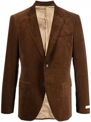Вельветовый пиджак Tiger of Sweden. Цвет: коричневый