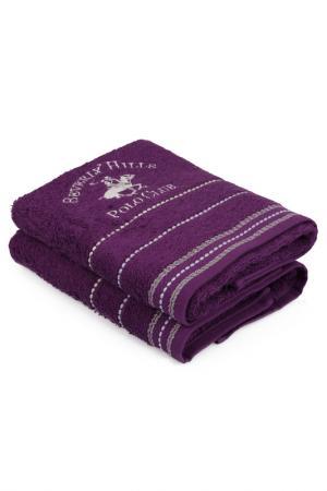 Набор полотенец для рук, 50х90 Beverly Hills Polo Club. Цвет: фиолетовый