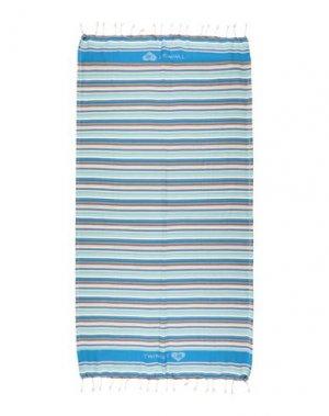 Пляжное полотенце TWINSET. Цвет: синий