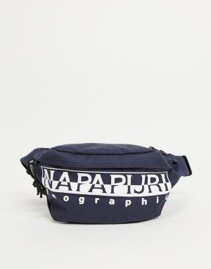 Темно-синяя сумка-кошелек на пояс Happy WB-Черный цвет Napapijri