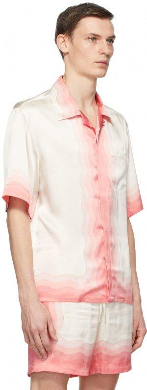 Off-White Silk Kapalia Shirt Casablanca. Цвет: kapalia