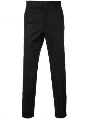 Классические строгие брюки Dolce & Gabbana. Цвет: черный