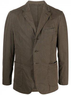 Пиджак свободного кроя Aspesi. Цвет: зеленый