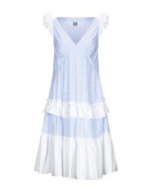 Платье до колена I'M ISOLA MARRAS. Цвет: небесно-голубой